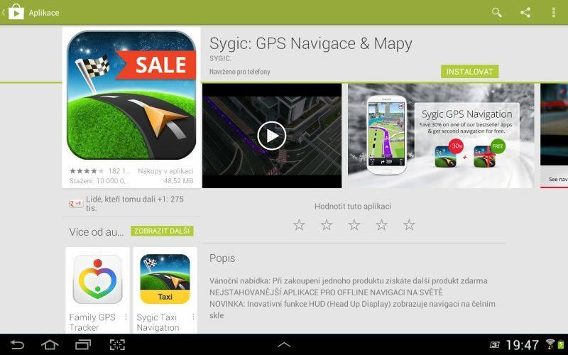Sygic GPS Navigation v GooglePlay