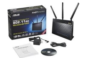 Dvoupásmový gigabitový Wi-Fi router Asus RT-AC68U